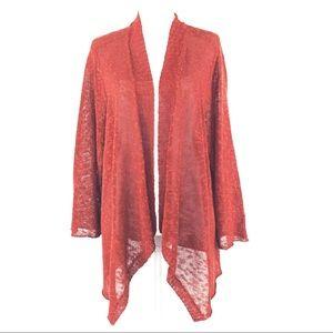 Eileen Fisher Linen Blend Open Duster Cardigan